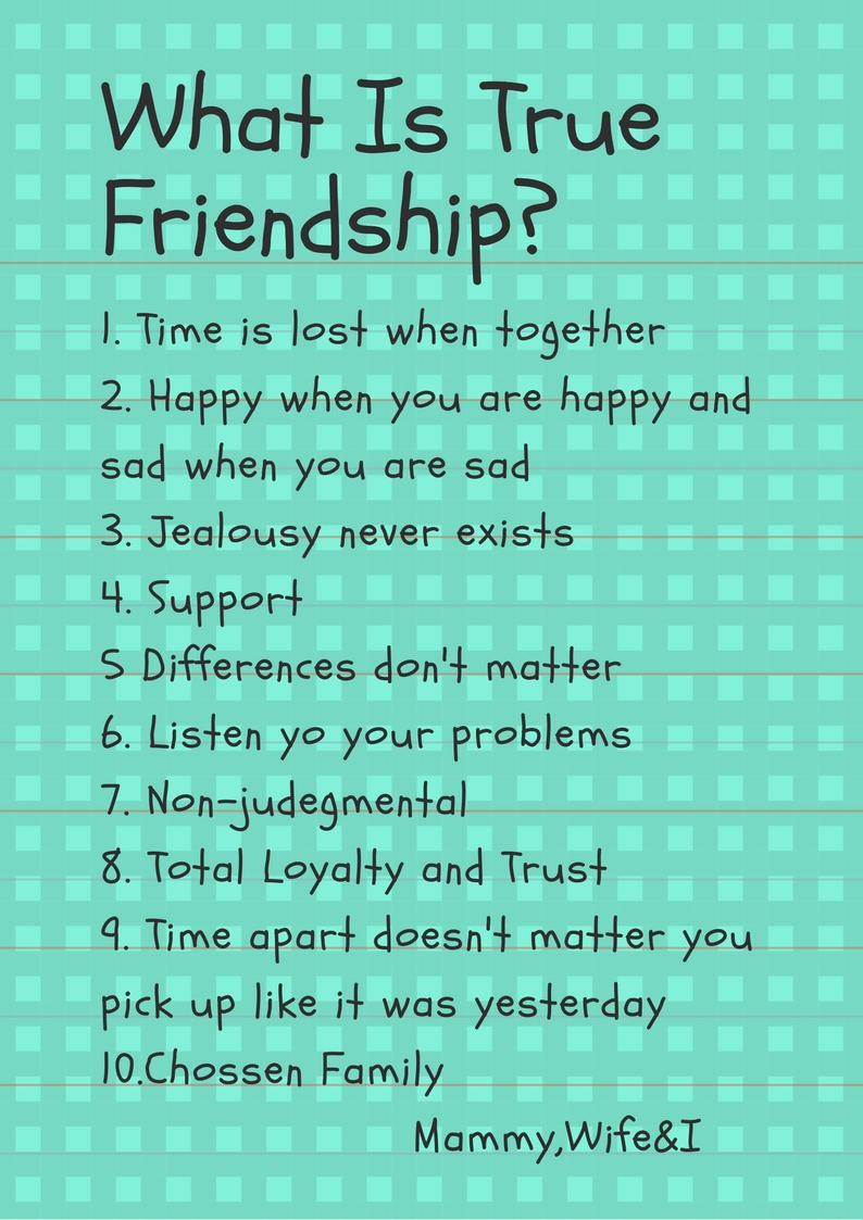 Quotes About True Friendship And Loyalty Enchanting What Is True Friendship  Mammy Wife U0026 I